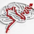 brain maze; 3d render